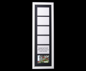 CreativePF 6 Opening Glass Face White Picture Frame to hold 13cm by 18cm Photographs including 25cm x 90cm Black Mat Collage