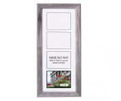 CreativePF- 4 Opening Glass Face Driftwood Picture Frame to hold 13cm by 18cm Photographs including 25cm x 60cm White Mat Collage