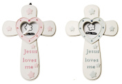 Cross Baptism Communion Picture Frame in Blue