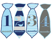 Mumsy Goose Baby Boy Stickers Monthly Age Stickers 1-12 Months Ties
