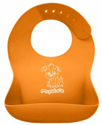"McPolo's BABYSOFT iBib ® - the ""iPhone"" in Silicone Baby Bib World! - Fitting MORE Growing Babies 3 Mos to PreSchoolers comfortably with Smart Buttons ♥♥♥ PREMIUM QUALITY - Silky Soft to the touch, ALL 100% Ultra .."