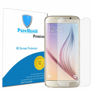 Pure Shield Samsung Galaxy S6, High Defintion Anti-Glare Screen Protectors Guard Film-- Maximum Clarity and Touchscreen Accuracy [3-Pack] Lifetime Warranty