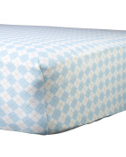 Abstract Baby Argyle Print Fitted Crib Sheet
