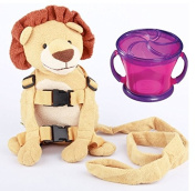 Goldbug Animal 2 in 1 Harness with Travel Snack Cup, Lion