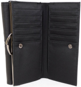 Womens Large Soft Leather Wallet, Micro Fibre Inner, Slot & Zipped compartments