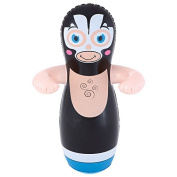 Ouse Valley Inflatable Big Bop Wrestler. Black. Kids Outdoor Punch Bag. Sand Compartment.
