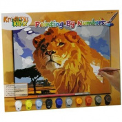 Paint By Numbers With 10 Paints ~ Lion