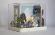 TOP-MAX 3D 2 LED light Wooden Dolls House With Furniture Handmade for Women's Day and Your Girlfriend /Mother [Toy]