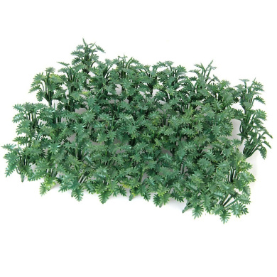 Approx. 50pcs 1/50 Scenery Landscape Model Grass Ground Cover Green with Crushed Leaves