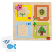 Jumbo Diset Goula Transparencies Wooden Puzzle with Plastic Pieces