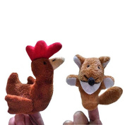Homgaty The Sly Fox and The Little Red Hen Animals Finger Puppets Story Telling Nursery Fairy Tale The Perfect Birthday, Christmas Gift