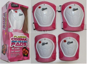 Pink childs knee/elbow pads,scooter skate board protective knee,elbow arm pads.Junior safety junior pads