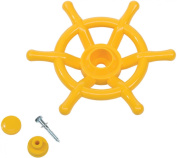Pirate Boat Steering Wheel Solid Plastic Kids Climbing Frames or Tree Houses - Yellow - Heavy Duty.