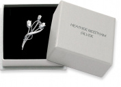 Sterling Silver Rennie . Tulip Brooch available in 2 sizes - Gift Boxed. PLEASE CHOOSE SIZE 36mm or 47mm 9107/8