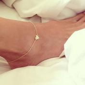 Simple Heart Ankle Bracelet