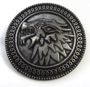 Game Of Thrones - House Stark, Dire Wolf Pin Brooch - Winter Is Coming