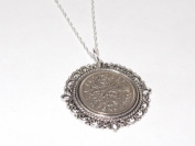 Fancy Pendant 1955 Lucky sixpence 60th Birthday plus a Sterling Silver 46cm Chain