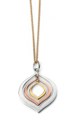 Elements Sterling Silver Ladies Gold and Rose Gold Plated Triple Lantern Shaped Pendant of 41-46cm