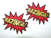 """BAZINGA"" The Big Bang Theory - Embroidered Iron-On / Sew-On Patch - 2 Badges by ONEKOOL by ONEKOOL"
