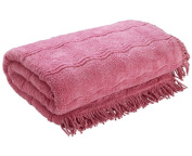 The Bettersleep Company Candlewick Bedspread Double Bed - Pink. Luxury Traditional Bed Throws