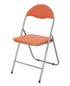 Orange Folding Padded Office Reception Desk Chairs Foldable Chair Easy Storage Various Colours Available 43.5 x 46 x 79.5 cm