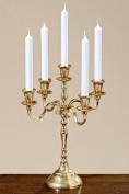 "Candlestick, candle holder gold, 40cm , model ""sophie"", holds 5 candles"