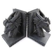 Pair of bookends 'Dragons Mystiques'grey.