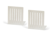 Spectrum 11200 Large Rectangle Bookends, White