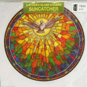 Holy Spirit dove suncatcher stained glass window sticker reusable 15cm sun catcher