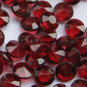 1000 Ruby Red Wedding Table Scatter Diamonds 6.5mm