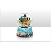 Elgate London Montage Snowstorm With Printed Base Snow Globe, 65mm