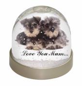 Miniature Schnauzer 'Love You Mum' Snow Dome Globe Waterball Gift