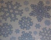Christmas Xmas Glitter Snowflake stickers - reusable clings - Wonderful window display