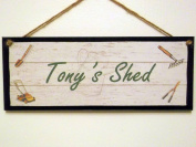 "Personalised Wooden Sign / Plaque.""'Your Name"" Shed, Gardening. Great Gift Idea!"