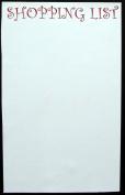 """Shopping List"" Fridge Magnet / Whiteboard / memoboard 300mm x 200mm, nearly a4"