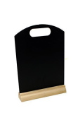 A4 Table Top Chalkboard with Wood Base