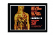 James Bond Goldfinger Projection A3 Framed Print