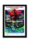 James Bond Spy Who Loved Me One Sheet A3 Framed Print
