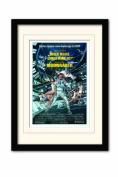 James Bond Moonraker One Sheet A3 Framed and Mounted Print