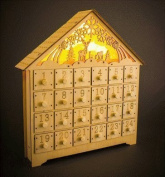 Natural Wooden Advent Calendar with LED Light