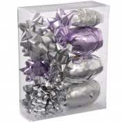 WeRChristmas Gift Wrapping Set with Decorative Bows and Ribbons, 11-Piece - Lilac
