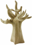 Decopatch Small Mache Jewel Holder or Decorating Tree SA114O, Brown
