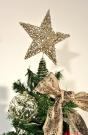 Gisela Graham Christmas Gold Glitter Tree Top Star Topper