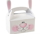 6 Easter Bunny Treat or Party Food Lunch Boxes | Kids Party Tuck Boxes
