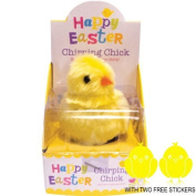 EASTER CHIRPING CHICK,WITH TWO FREE EASTER CHICK STICKERS