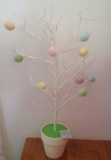 Gisela Graham Pastel Easter Egg Twig Tree In Pot Decoration Ornament 60cm