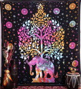 Elephant Tapestries , Hippie Tapestry , Tree of Life Tapestries , Wall Tapestries , Bohemian Tapestries, Indian Tapestry Wall Hanging
