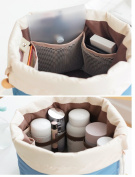 LY® Multi-pockets Spacious Comestic Bag Toiletry Organiser Wash Bag Makeup Storage Bag+Small Zipper Pocket+Transparant PVC Pouch Travel Essential Bag in Bag Big Enough Towels and Lingerie Pouch