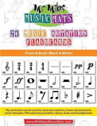 24 Music Notation Flashcards (Black&white)  : Mrmikesmusicmats