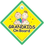 Grandkids On Board, Cute Green, Grandkids On Board Sign, Grandchildren On Board Sign, Baby on Board Sign, Maternity Gift, baby on board